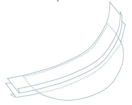 Vložení kšiltu mezi pásky