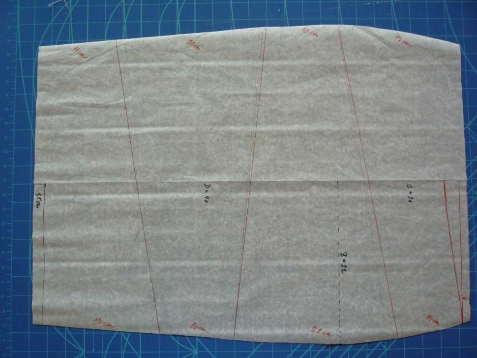 009 Pruhovaná sukně návod
