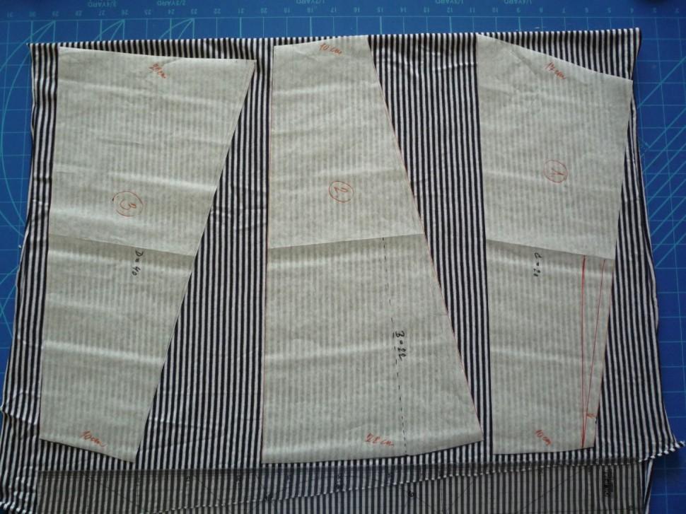 011 Pruhovaná sukně návod