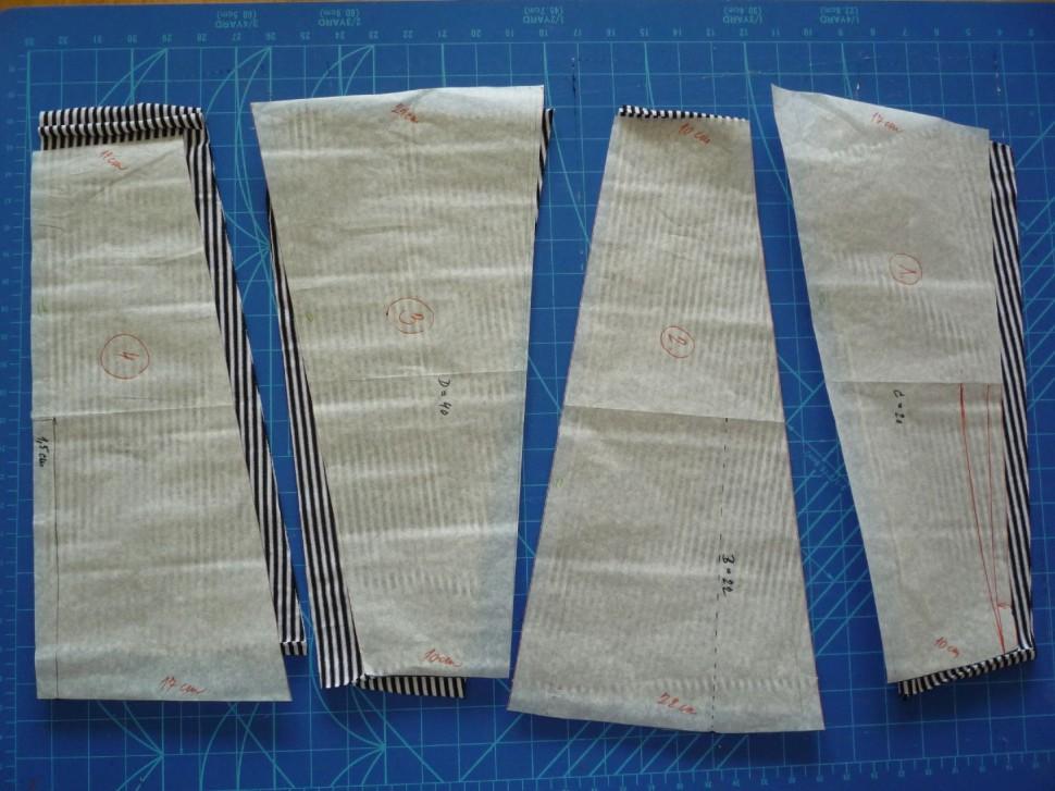 012 Pruhovaná sukně návod