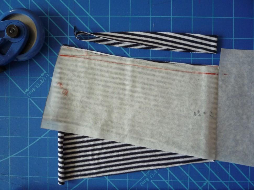 014 Pruhovaná sukně návod