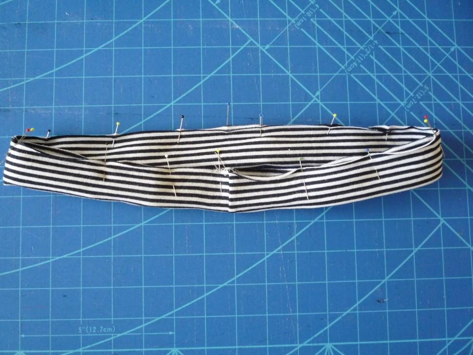 022 Pruhovaná sukně návod