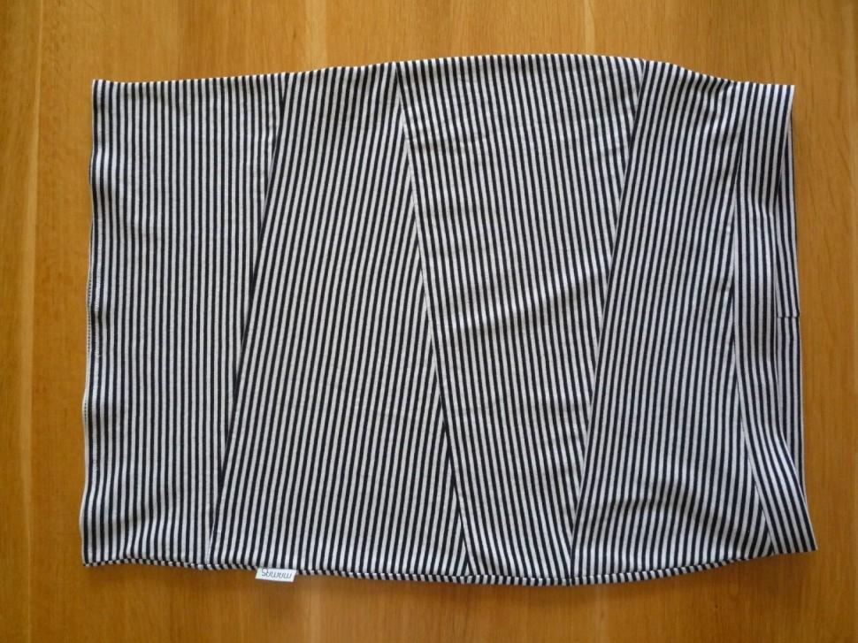 025 Pruhovaná sukně návod